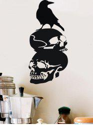 Skulls Bird Print Wall Sticker for Bedroom -