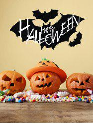 Halloween Bats Print Wall Stickers for Bedroom -