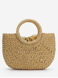 Outdoor Travel Minimalist String Straw Tote Bag -
