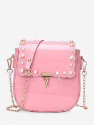 Chic Faux Perles Flapped Dating Crossbody Bag -