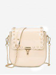 Chic Faux Pearls Flapped Dating Crossbody Bag -
