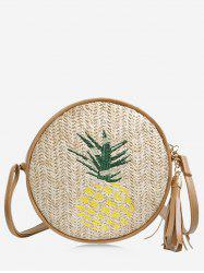 Tassel Leisure Pineapple Embroidery Canteen Bag -