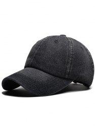 Stylish Solid Color Denim Baseball Cap -