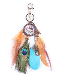 Handmade Feathers Dream Catcher with Key Ring -