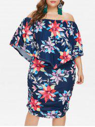 Plus Size Off Shoulder Bodycon Capelet Dress -