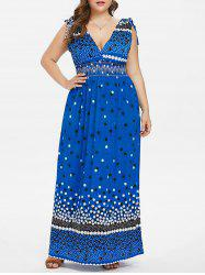 Plus Size Polka Dot Maxi Dress -