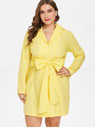 Plus Size Bow Tie Shirt Dress -
