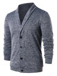 Solid Color Turn Down Collar Cardigan -