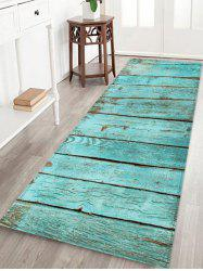 Wooden Print Water Absorption Rug -