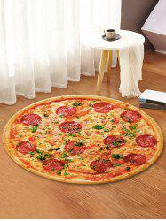3D Pizza Printed Decorative Round Floor Rug -