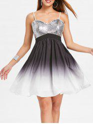 Sequined Ombre Cami Night Out Dress -