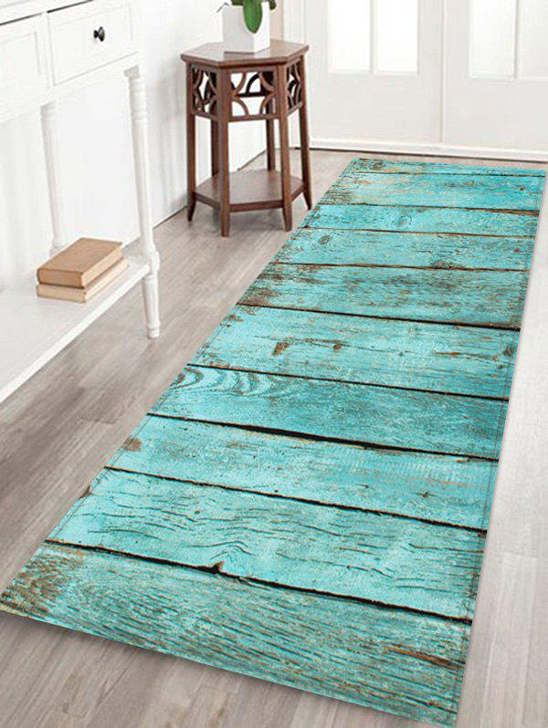 Store Wooden Print Water Absorption Rug