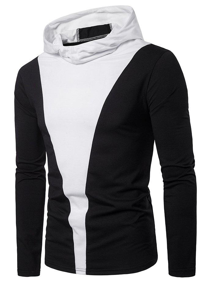 Buy Color Block Long Sleeve Hooded T-shirt