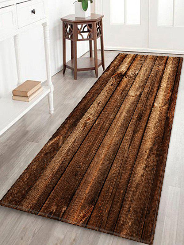 Unique Wooden Printed Water Absorption Area Rug
