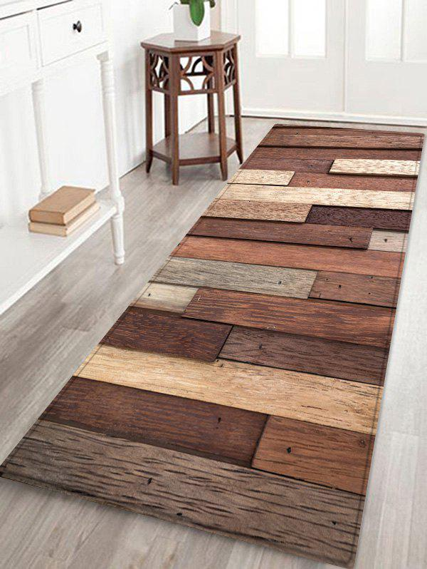 Wooden Combination Print Anti-slid Floor Area Rug