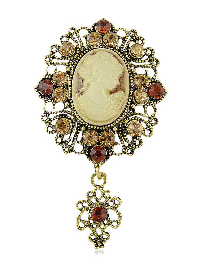 Outfit Vintage Hollow Cameo Brooch