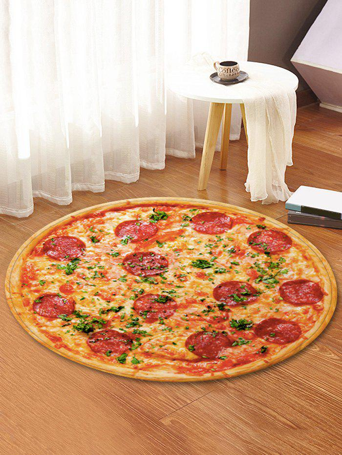 Online 3D Pizza Printed Decorative Round Floor Rug