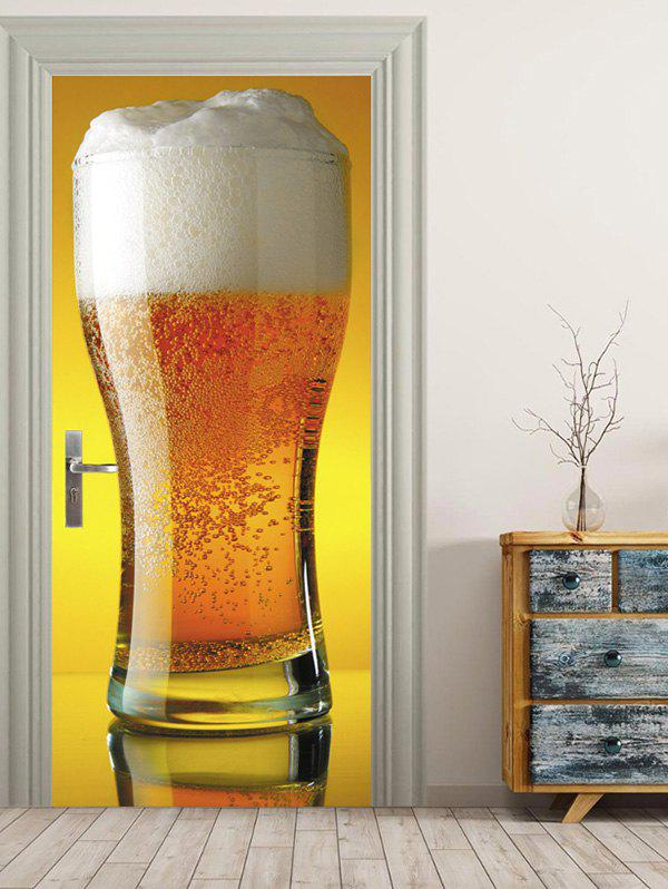 Chic Big Cup Beer Print Door Decals