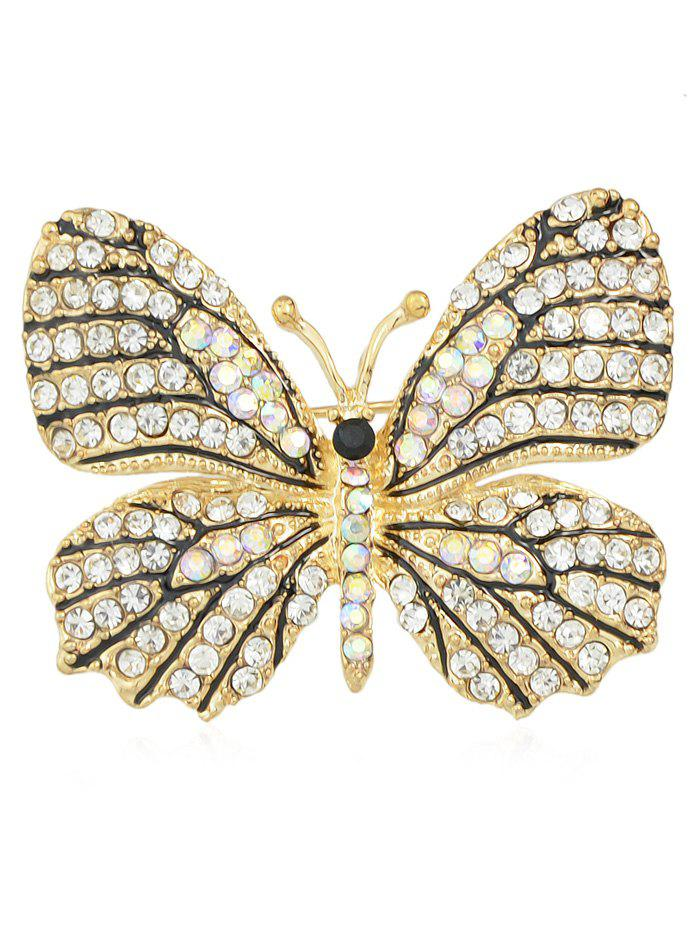 Fashion Full Rhinestone Butterfly Brooch