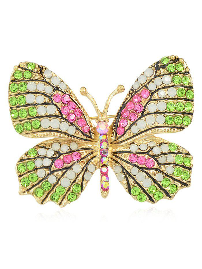 Discount Full Rhinestone Butterfly Brooch