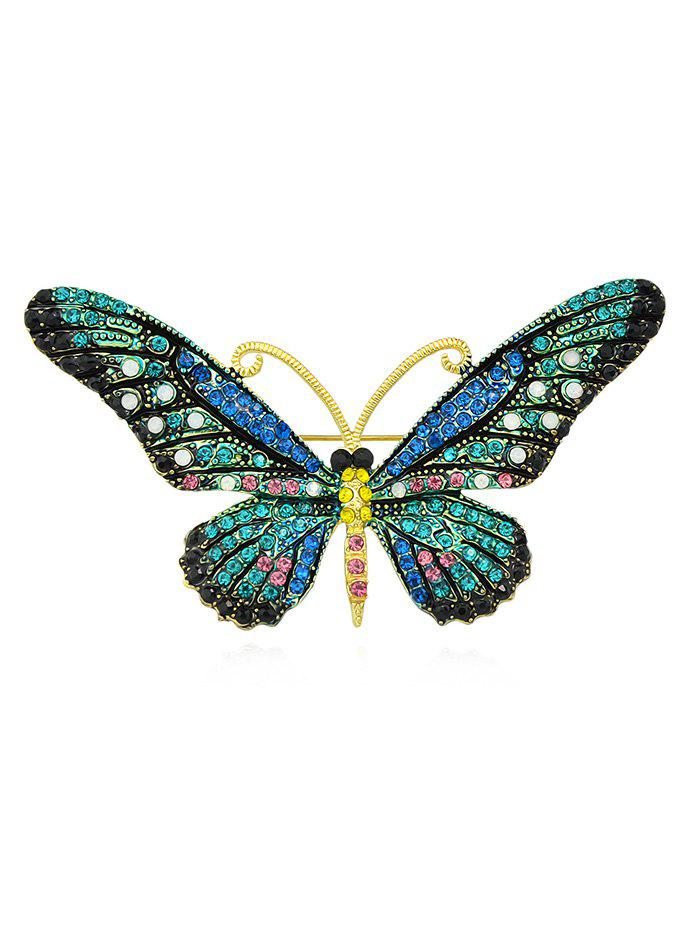 Outfit Butterfly Shaped Rhinestone Brooch