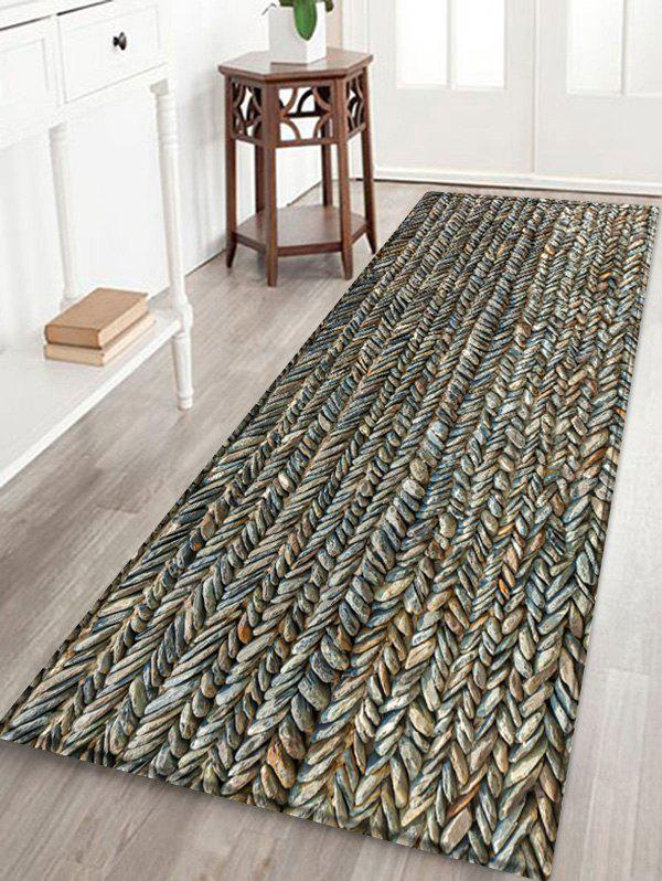 Affordable Stone Print Water Absorption Area Rug