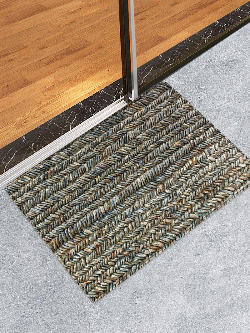Fancy Stone Print Water Absorption Area Rug