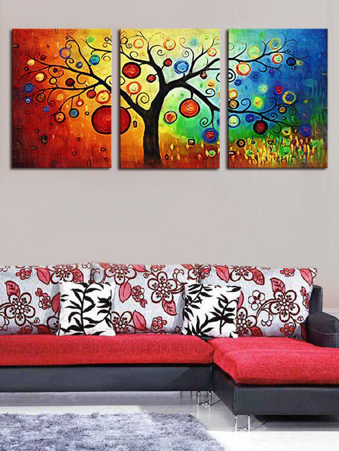 Fashion Unframed Colorful Tree Printed Canvas Paintings