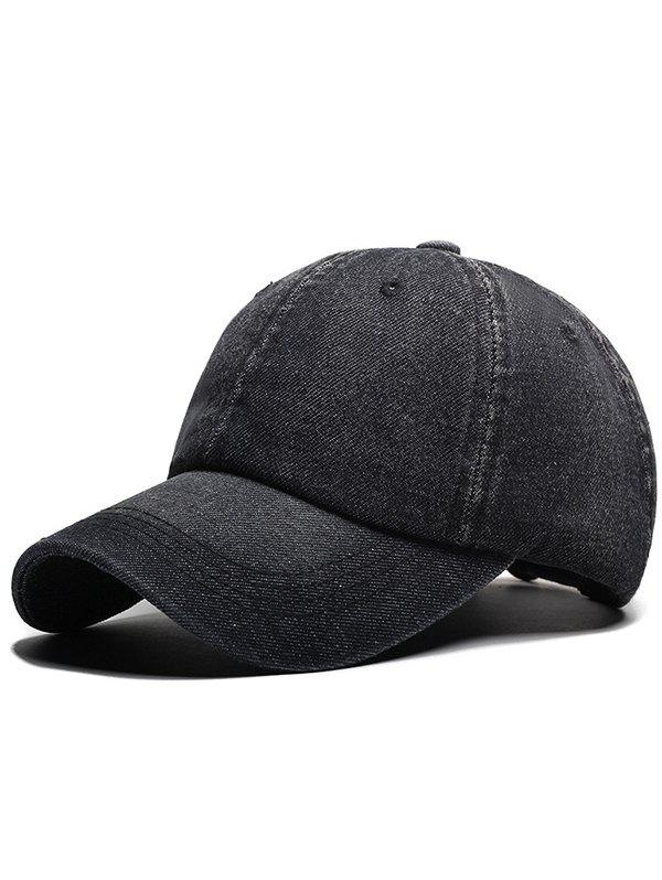 Trendy Stylish Solid Color Denim Baseball Cap