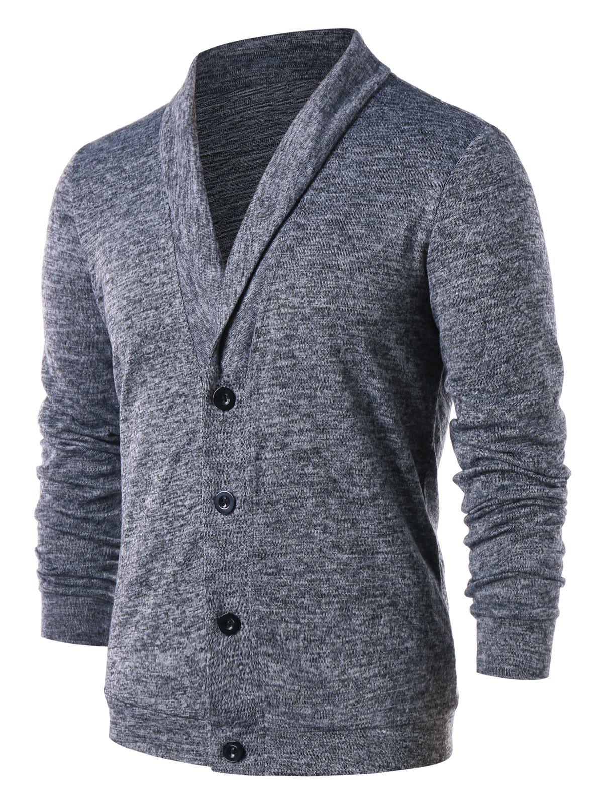 Outfit Solid Color Turn Down Collar Cardigan