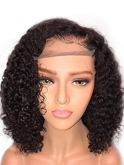 Short Side Bang Curly Lace Front Synthetic