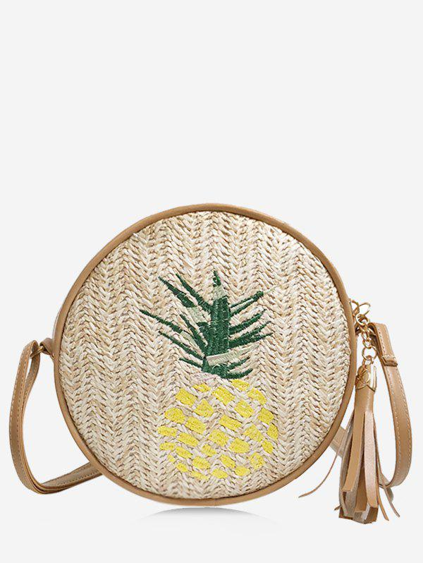 Unique Tassel Leisure Pineapple Embroidery Canteen Bag