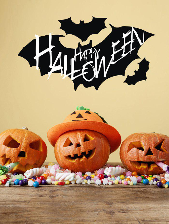 Store Halloween Bats Print Wall Stickers for Bedroom