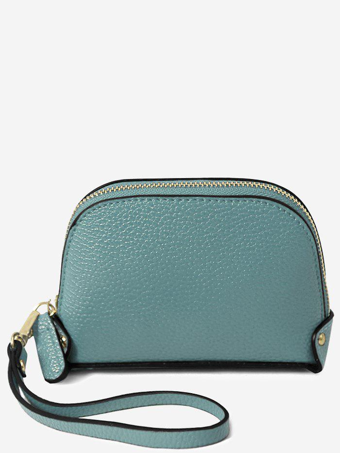 Trendy Faux Leather Casual Mini Wristlet Bag