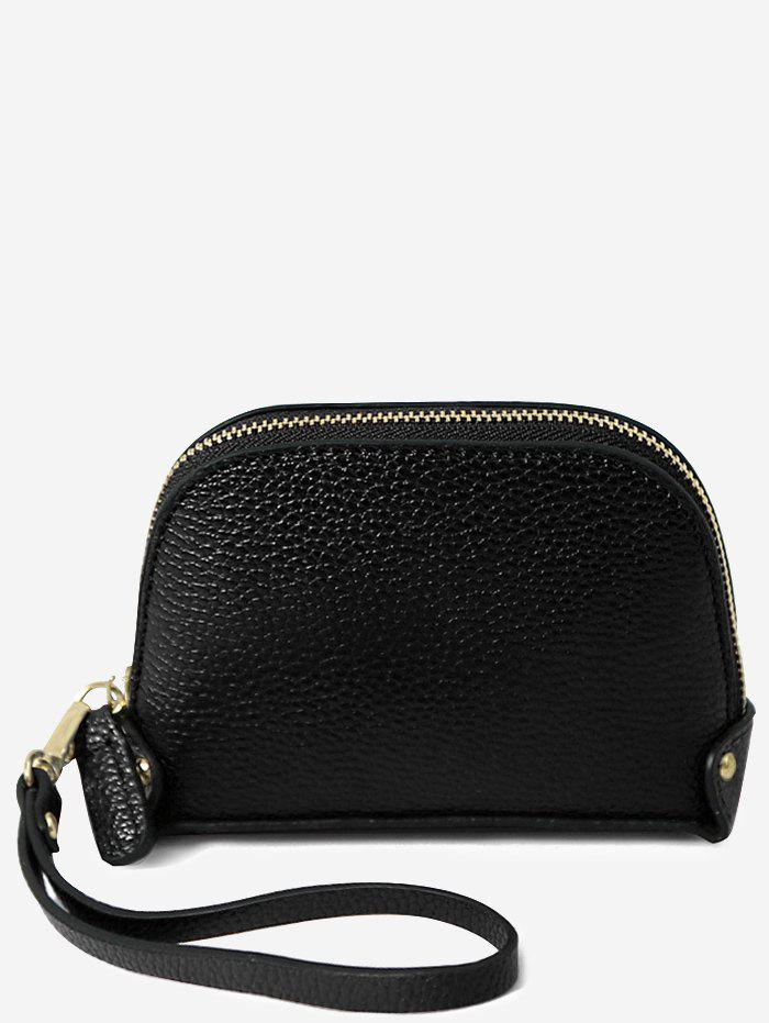 Buy Faux Leather Casual Mini Wristlet Bag