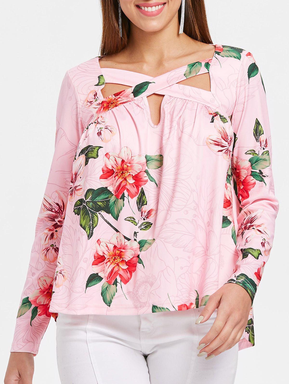 Store Floral Print Full Sleeve T-shirt