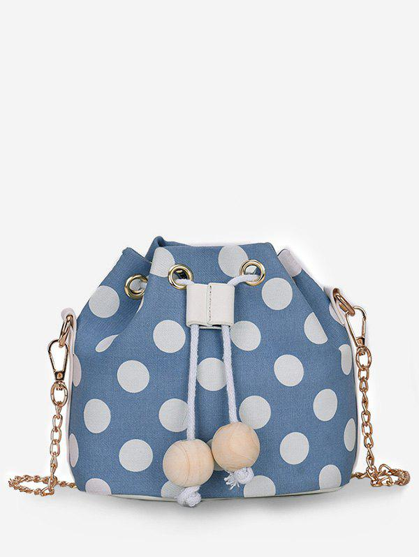 Sale Beaded String Polka Dot Retro Bucket Bag