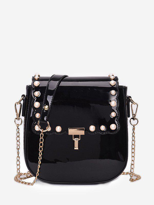 Affordable Chic Faux Pearls Flapped Dating Crossbody Bag