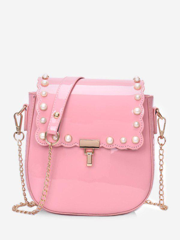 Chic Faux Perles Flapped Dating Crossbody Bag