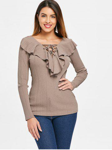 Criss Cross Collar Full Sleeve Top