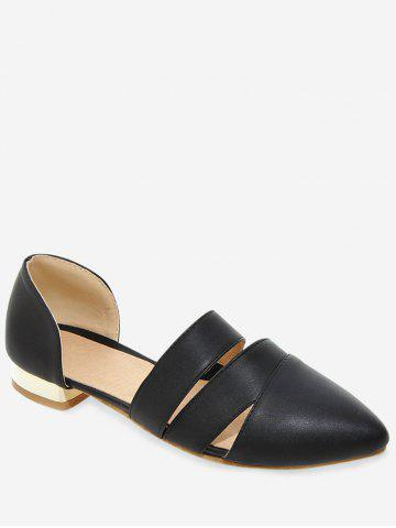 Plus Size Low Heel Daily Pointed Toe Pumps - BLACK - 38