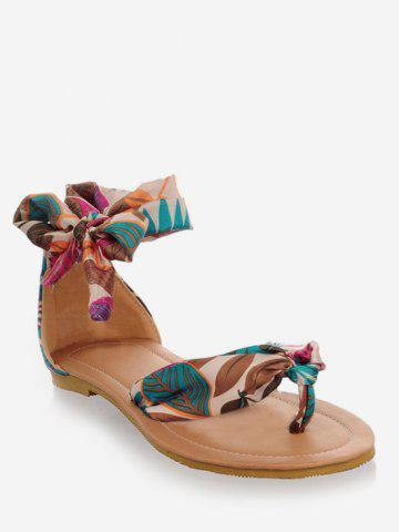 Plus Size Casual Holiday Ankle Strap Thong Sandals