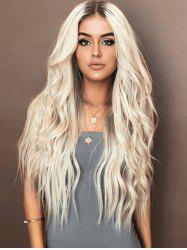 Long Middle Part Colormix Natural Wavy Synthetic Wig -