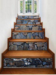 Stone Wall Print Decorative Stair Stickers -
