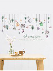 Hanging Ornament Print Wall Stickers for Bedroom -