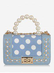 Hasp Polka Dot Pattern Crossbody Bag -