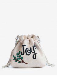 Straw Embroidery Patchwork Leisure Crossbody Bag -