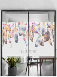 Frosted Feathers Glass Sticker for Window Bathroom -