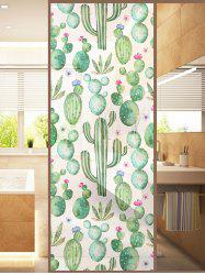 Frosted Succulents Glass Sticker for Window Bathroom -