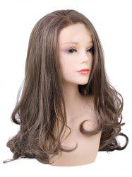 Long Side Bang Colormix Wavy Lace Front Synthetic Wig -